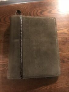 Franklin Covey Planner Case Brown Leather 7 ring Binder