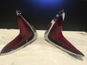 Oem Nos 1960 Chrysler 300 New Yorker Tail Light Lamp Assembly S Beautiful Pair