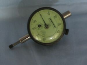 Vtg Federal 0 100 Machinist Dial Indicator Gauge Jeweled Miracle Movement
