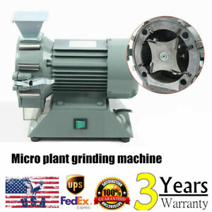 Electric Plant Grinding Machine 30 120 Mesh Grain Mill Plant Herbal Pulverizer