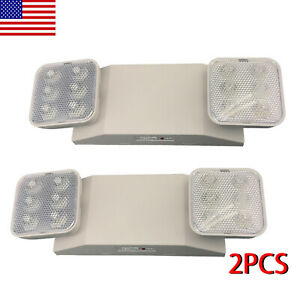 2pack Led Emergency Exit Light Battery Backup Adjustable Two Heads Ul listed