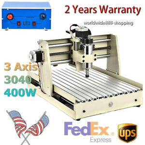3 Axis Router Engraver 3040 Cnc Carving Woodworking Mill Engraving Machine 400w