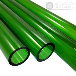 Pyrex Glass Blowing Tubing Green Color 9 Mm X 2 Mm 4 Pieces X 8 Free Shipping