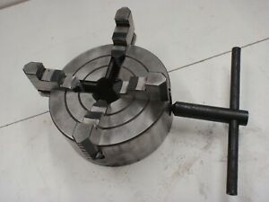 6 4 Jaw Independent Lathe Chuck Reversible Jaws W Key
