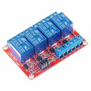 Hiletgo 4 Channel 24v Relay Module With Opto isolated Support High And Low Le