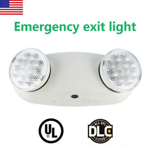 1pack Double Heads Led Home Office Market Exit Sign Emergency Lighting Lamp Ul