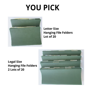 Hanging File Folders Green Clear Tabs Letter Legal Size Lots Of 20 You Pick