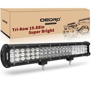 Oedro 20 189w Led Light Bar Flood Work Lamp Offroad For Jeep Truck Atv Suv Boat