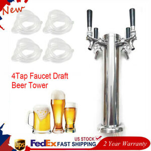 Silver Stainless Steel 320mm Faucet Draft Beer Tower Durable For Kegerator