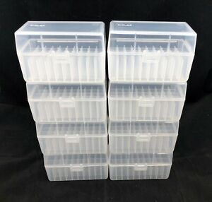 Plastic Ammo Box Lot of 8 50 Round 223 5.56 Made in USA Reloading SR 50 $27.99