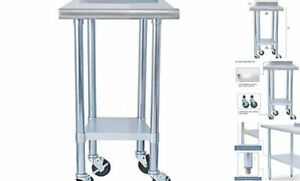 Stainless Steel Metal Table Nsf For Commercial Kitchen Prep 24 X 24 Inch