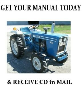 Ford Tractor 1500 1510 1700 1710 1900 1910 2110 Service Repair Shop Manual On Cd