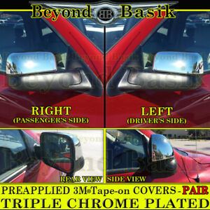 For 2002 2008 Dodge Ram 1500 03 09 2500 Chrome Mirror Covers For Towing Mirrors