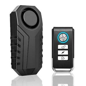 Wireless Anti theft Vibration Motorcycle Bike Security Alarm Remote Loud 113db