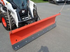 2019 Bobcat 96 Snow Blade For Skid Steer Loaders Hydraulic Angle Quick Attach