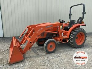 2011 Kubota L3800f Tractor W Loader Orops 2wd 540 Pto 3 Point 266 Hours