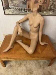 Adel Rootstein Female Mannequin Sn10 Headless Seated Pose From Snapshots