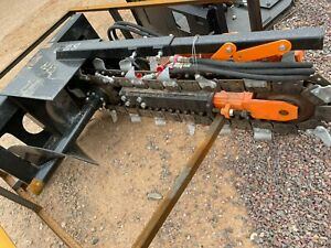 Mower King Skidsteer 4 Trencher Hydraulic Attachment Cat Bobcat Free Shipping