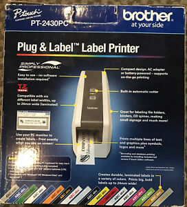 Brother Pt 2430pc Portable Thermal Label Printer W Auto cutter Excellent