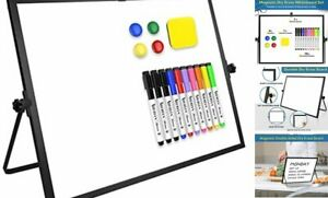 Dry Erase White Board Large Magnetic Desktop Whiteboard 16 x12 With Black