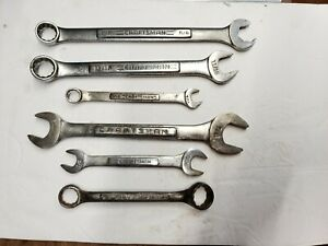 Craftsman Wrench Lot 6 Combination Open End Box End Usa