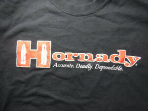 Hornady Bullets Accurate Deadly Dependable Gun Rights Hunting Black M Tshirt $5.99