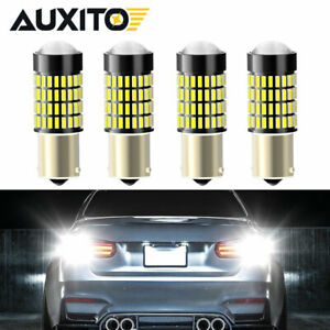4x Auxito 1156 7506 Led Reverse Light Bulbs Drl Turn Signal Parking Brake Lamps