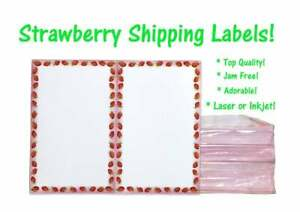 Strawberry Theme Shipping Labels Top Quality Jam Free 2 Labels Per Sheet
