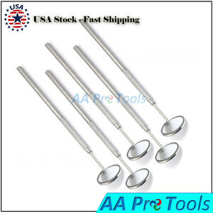 5pcs Set Stainless Steel Bright Oral Dental Mouth Intra Mirror Handle