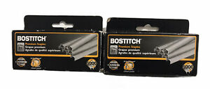 Bostitch Premium Staples B8 High Carbon Steel Chisel Point Lot Of 2 Mostly Full