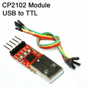 New Usb 2 0 To Ttl Uart 5pin Module Serial Converter Cp2102 Stc Prgmr With Cable