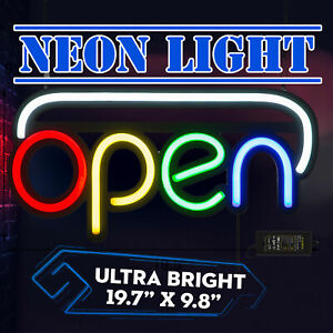 Ultra Bright Led Neon Light Business Sign Open Light Store Display 19 7 x9 8