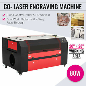 Omtech Co2 Laser Cutting Machine 80w With 28x20 Bed Usb Port And Ruida Controls