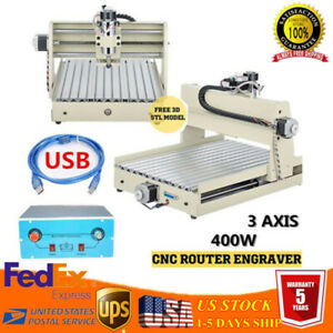 Usb 3 Axis 400w Cnc 3040t Router Engraver Milling Machine 3d Drilling Cutting Ce