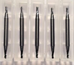 1 16 Dia X 1 8 Cut 4 Flute Double End Ball Carbide End Mill Usa Made 5 pack C8