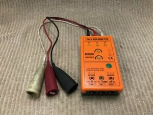 Extech 3 Phase And Motor Rotation Tester Model 480303 Good Condition Ships Free