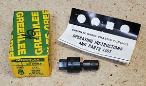 Greenlee No 730 1 2 Diameter Punch And Die Set Radio Chassis Punch