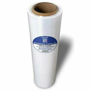 Plastic Wrap Stretch Film Clear For Moving Shipping Packing 18 In X 1200 Ft Roll