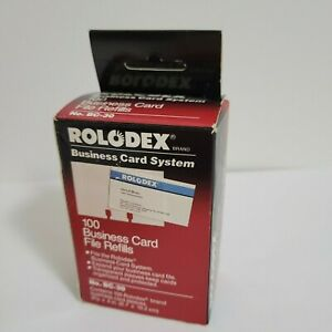 Rolodex 80 Business Card File Refills Nos Bc 30 1992