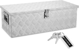 30 Inch Aluminum Trailer Tool Box Chest Box Pickup Truck Bed Storage Toolboxes