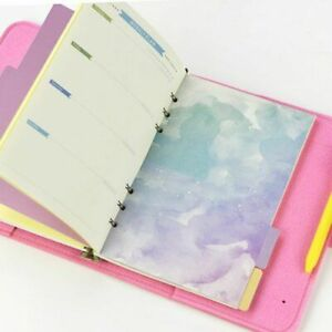 Page Loose Leaf Separator Page Cherry Blossoms Style Notebook Divider Index