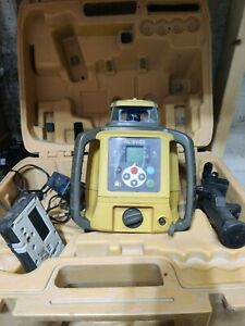 Topcon Rl sv2s Dual Slope Laser 100d Receiver Charger Holder And Battery