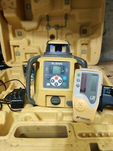 Topcon Rl sv2s Dual Slope Laser 80l Receiver Charger Holder Remote And Battery