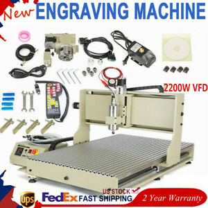 Usb 4 Axis Cnc 6090 Router Engraver Milling cutting Machine 2 2kw controller Rc