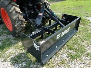 New Bobcat 60 Box Blade For Compact Tractors 3 Pt Hitch Fits Many Models