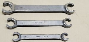Vintage Mac Tools Flare Nut Line Wrench 3pcs Lot Used