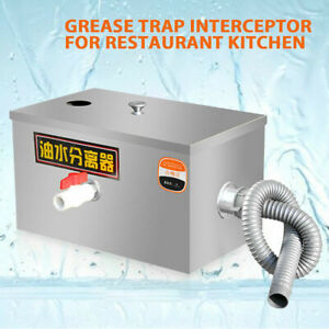 Free Shipping Stainless Steel Grease Trap Interceptor For Kitchen Wastewater Us