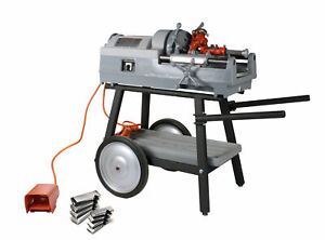 Reconditioned Ridgid 535 V2 Pipe Threader With 811a Die Head Hss Dies Cart