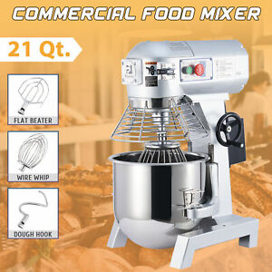 Commercial Stand Mixer Kitchen Gadget With 20 Qt Mixing Bowl And 3 Attachments