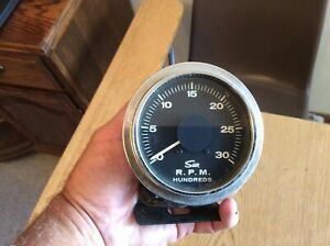 Vintage Sun Tach 4 000 Rpm Tachometer With Pinch Cup